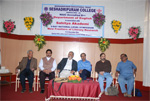 Along with Dr. U. R. Anantha Murthy at the inauguration of two day National Level Symposium on New Frontiers of Literary Research organized by Seshadripuram College and Sahitya Akademi in Bengaluru, 2008