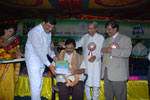 Shri P. M. Narendraswamy, Minister for Social Welfare, Govt. of Karnataka, conferring State Award for Empowerment of People with Disabilities (2010) on the occasion of the World Disabled Day, 2009, in Bengaluru