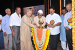 Former Governor of Bihar Justice Dr. Rama Jois inaugurating Dr. Wooday P. Krishna�s Book Releasing function on 4-5-2015.  Freedom Fighter Dr. H. Srinivasaiah, President of The Institution of Engineers (India) Dr. L. V. Muralikrishna Reddy, Noted Writers Dr. Meerasabihalli Shivanna, Prof. Shivaramaiah, Dr. Mallepuram G. Venkatesh and Gudihalli Nagaraj were present during the occasion.