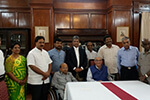 Educationist Dr. Wooday P. Krishna at an interaction meeting of educationists with the Governor of Madhya Pradesh and Gujarath Shri Om Prakash Kohli, 28-10-2016, Raj Bhavan, Bengaluru.