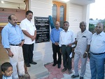 Dr. Wooday P. Krishna, National Council Member, IEI along with Dr. L. V. Muralikrishna Reddy, President, IEI, Dr. K. Gopalakrishnan, Council Member, IEI, Er. I. Michael Raj, Chairman Building Committee, IEI Tuticorin Local Centre and others on the occasion of the inauguration of the new building of the IEI, Tuticorin Local Centre, April 2015.