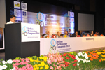 Dr. Wooday P. Krishna, Chairman, the Institution of Engineers (India) speaking at the valedictory function of the Indian Technology Congress, 2014.