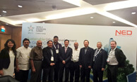 Dr. Wooday P. Krishna (2nd from left), National Council Member, The Institution of Engineers (India), seen with the other Indian delegates and delegates from other countries at the World Engineers Summit on Climate Change, Singapore, 2015.