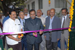 Er. Ashok Kumar Basa, President, The Institution of Engineers (India), inaugurating the National Design & Research Forum Project Centre at IEI, Karnataka State Centre premises, Bengaluru, flanked by Dr. Wooday P. Krishna, Chairman, IEI, KSC, 1-2-2014.L-R: Dr. Ing. B. V. A. Rao, Chairman, NDRF; Prof. Arvind Kulkarni, Er. D. V. Nagabhushan, Dr. K. Gopalakrishnan; Dr. L. V. Muralikrishna Reddy, Vice-President, IEI; and Prof. Lawrence Surendra.