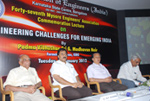 At a Commemoration Lecture Program at the Institution of Engineers (India) along with Padma Bhushan Dr. G. Madhavan Nair.