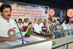 At the annual get-together of staff of Seshadripuram Institutions on Teachers' Day 2011.