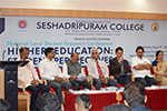 Shri Bharat Lal Meena, IAS, Principal Secretary, Higher Education, Govt. of Karnataka, inaugurated  a National Level Student Research Conference on �Higher Education:  Student Perspectives�, 31st August 2016, organized by Seshadripuram College, Bengaluru.   Seen from L-R: Vice Principal Maj. K. Y. Mohan Kumar, Director of Studies Dr. M. Prakash, Seshadripuram College Governing Council Chairman M. S. Nataraj, Key Note Speaker & Chancellor of Karpagam University Padmashri Prof. R. M. Vasagam, Shri Bharat Lal Meena, Seshadripuram Educational Trust Honorary General Secretary Dr. Wooday P. Krishna and Principal Dr. Anuradha Roy.
