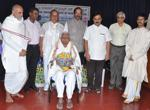 Honouring veteran Brahmo Samaj leader M. Narayandas on the occasion of release of book on �Brahmo Dharma� in Kannada.  Dr. Mallepuram G. Venkatesh, Vice-Chancellor, Karnataka State Sanskrit University was the Chief Guest.