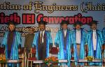 At the 20th Convocation of the Institution of Engineers (India) on 4-11-2012 at Jnanajyothi Auditorium, Bengaluru.  Shri Hansraj Bhardwaj, Governor of Karnataka, was the Chief Guest.  Dr. H. Maheshappa, Vice-Chancellor, Visvesvaraya Technological Institute delivered Convocation Address.