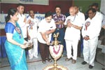 Inaugurating the Annual Scholarship Award Function of Karnataka Bhavasara Kshatriya Samaj, held on 22-9-2013.  Sri M. S. Satya, Noted Photo Journalist, is also seen.