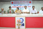 At the World Red Cross Day celebrations along with senior Journalist Shri E. V. Satyanrayana.