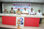With Senior Journalist E. V. Satyanarayana at World Red Cross Day function, Bengaluru, 2009