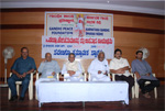 With Dr. D. Javaregowda, Former Union Minister M. V. Rajashekaran, Prof. H. R. Dasegowda and Siddharth Sharma at an Endowment Program of Gandhi Peace Foundation, Bengaluru, 2008
